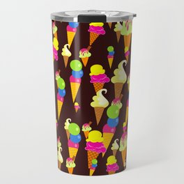 Ice Cream Background Design Travel Mug