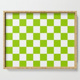 Damier 3 green and white Serving Tray