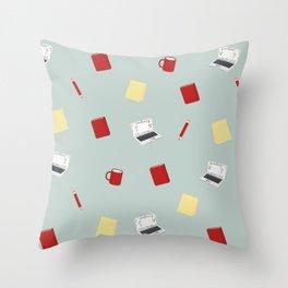 Red Writing Hood Throw Pillow