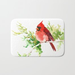 Cardinal Bird, stet birds decor design cardinal bird lover gift Bath Mat