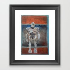 Iron Giant and Rothko Framed Art Print