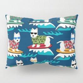 Westie surfing west highland terrier summer fun dog breed Pillow Sham