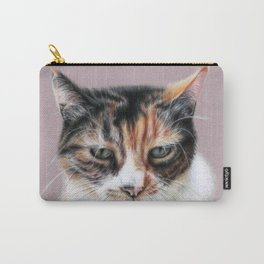 Cat portrait colored pencils Carry-All Pouch