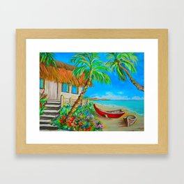 Caribbean Shack Framed Art Print