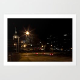 Atlanta street scene at night Art Print