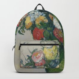"Paul Cezanne ""Flowers in a green vase"" Backpack"