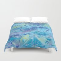 hologram Duvet Covers featuring Hologram by Marta Olga Klara