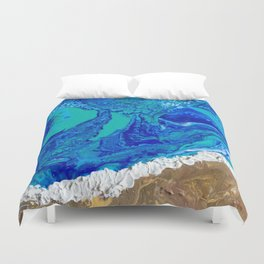 """""""LaJolla Cove"""" by Laurie Ann Hunter Duvet Cover"""