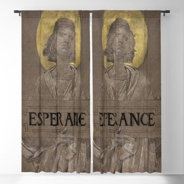 Figure of Hope (1895) drawing in high resolution by Luc-Olivier Merson Blackout Curtain