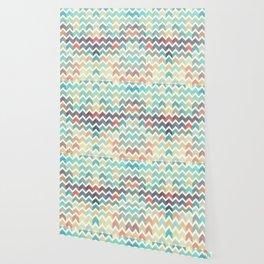 Glitter Chevron IV Wallpaper