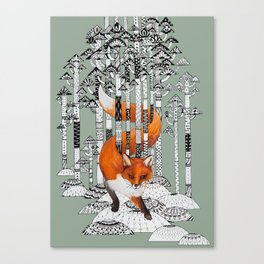 Fox Forest Canvas Print