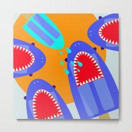 Sharksicles Metal Print