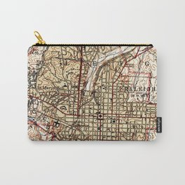 Vintage Map of Raleigh North Carolina (1940) Carry-All Pouch