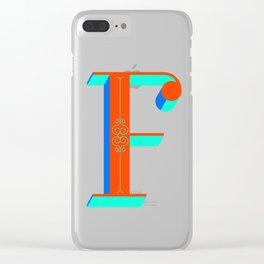 Letter F Clear iPhone Case