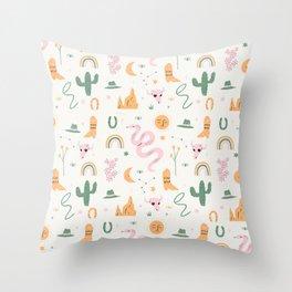 Wild West Pattern Throw Pillow