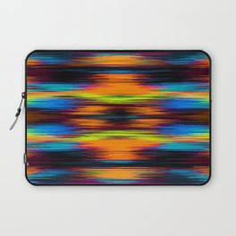 vintage psychedelic geometric abstract pattern in orange brown blue yellow Laptop Sleeve