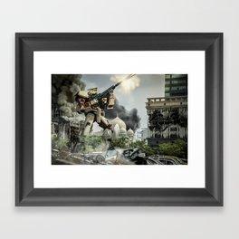 Astray Shooting Framed Art Print