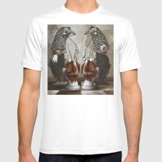 Les Cavalières Blanches Mens Fitted Tee White MEDIUM