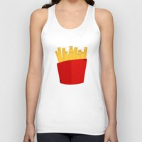 french fries Tank Tops featuring FRENCH FRIES by cfortyone