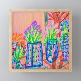 Flowers at Dawn Framed Mini Art Print