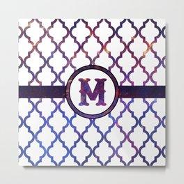 Galaxy Monogram: Letter M Metal Print
