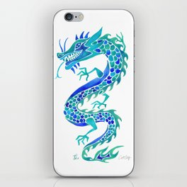 Chinese Dragon – Blue Palette iPhone Skin