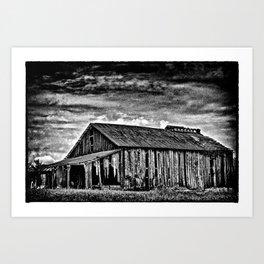 A Dark Barn Art Print