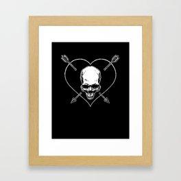 Eros & Thanatos (Jolly Roger Black Flag) Framed Art Print