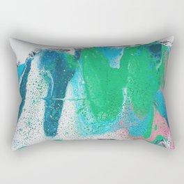 pastel fluid art Rectangular Pillow