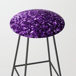 Beautiful Dark Purple glitter sparkles Bar Stool