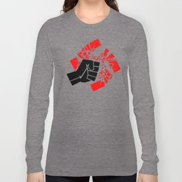 Obliterate Hate (black & red) Long Sleeve T-shirt