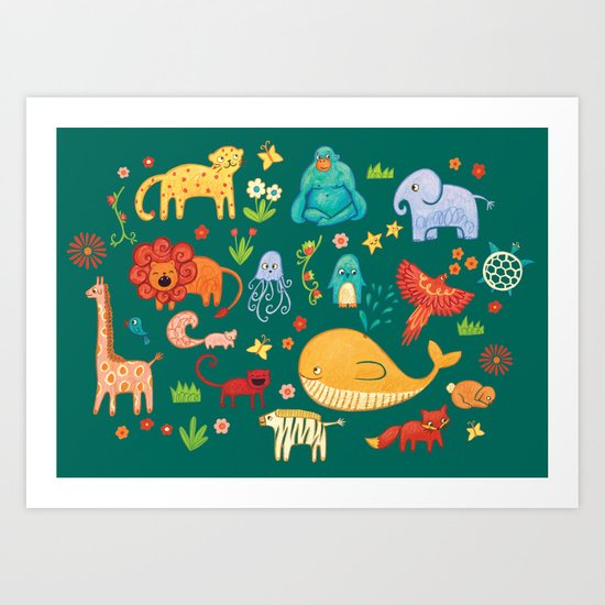 Animals Art Print