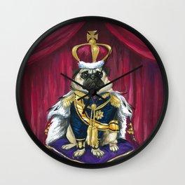 Royal Pug Wall Clock