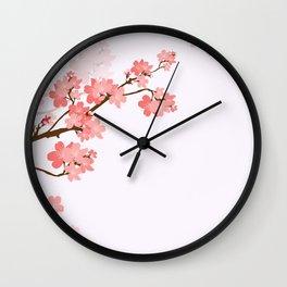 Blooming cherry tree Wall Clock