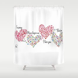 The Hearts and The Butterflies Shower Curtain