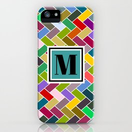 M Monogram iPhone Case