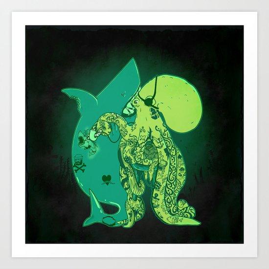 Oceanic INK Art Print