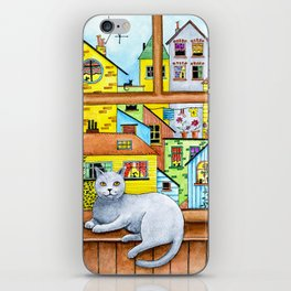 British Shorthair Cat at the Window iPhone Skin