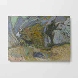 Ravine with a Small Stream Metal Print