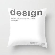 Helvetica Throw Pillow