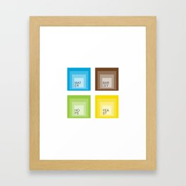 Homage to Beer Ingredients Framed Art Print