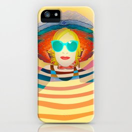 Swimming on Yellow iPhone Case