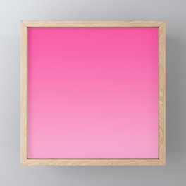 Bright pink neon gradient, Ombre. Framed Mini Art Print