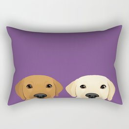 Tan Lab & Yellow Lab Rectangular Pillow