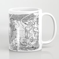 gore Mugs featuring Monster's Garden! by Davide Vitiello