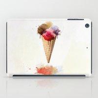 ice cream iPad Cases featuring Ice cream by emegi