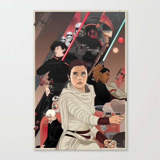 There has been an awakening Canvas Print