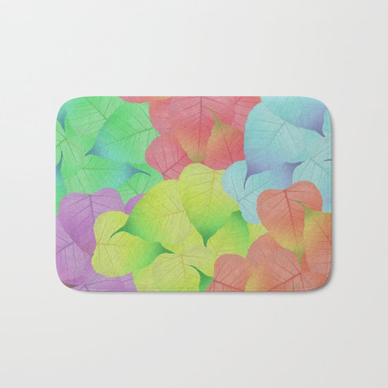 Leaf Pattern Bath Mat