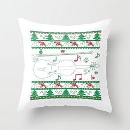 Violin Christmas Throw Pillow