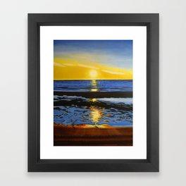 Sunset on the Hudson Bay  Framed Art Print